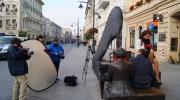 Ławeczka na Piotrakowskiej - na planie trailera